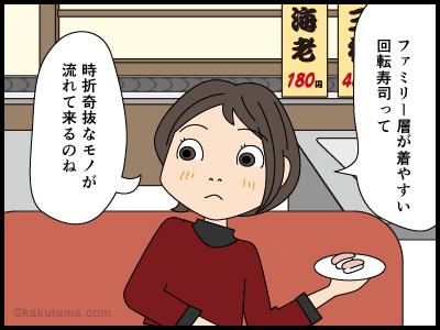 回転寿司へ来た4コマ漫画