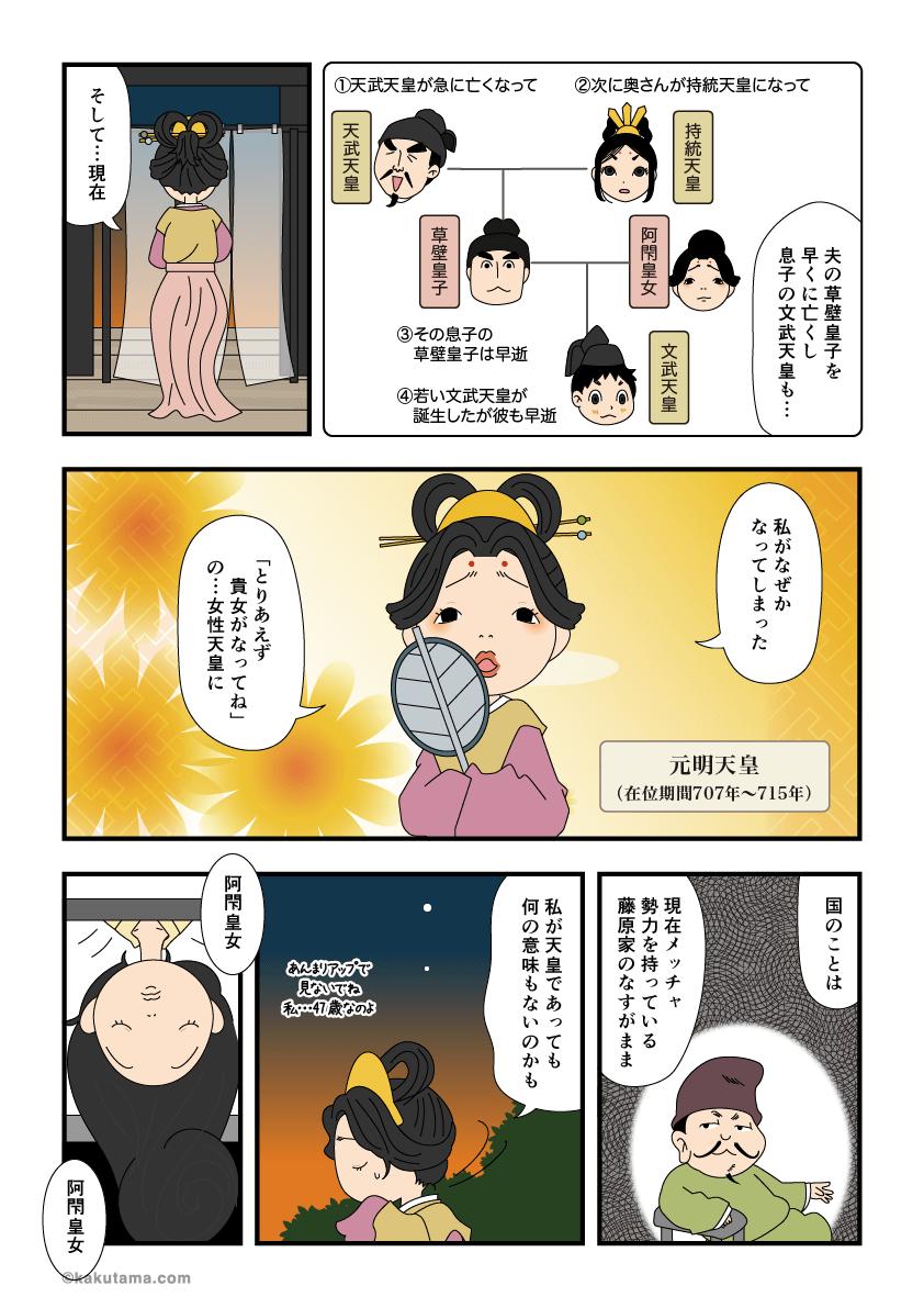 元明天皇の誕生の漫画