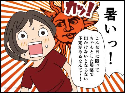 夏の暑さにまいっている4コマ漫画1