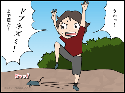 公園の邪魔者の4コマ漫画2