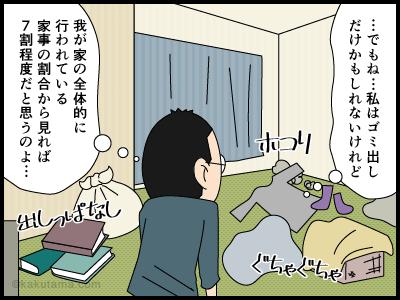 家事の分担率にまつわる4コマ漫画4