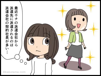 派遣先に契約社員が登場した漫画1