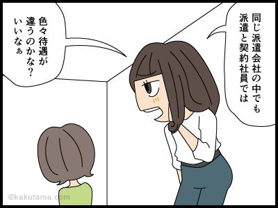 派遣先に契約社員が登場した漫画2