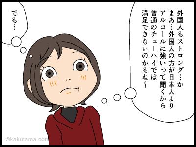 外国人の酒と寒さに対する態度を描いた4コマ漫画3