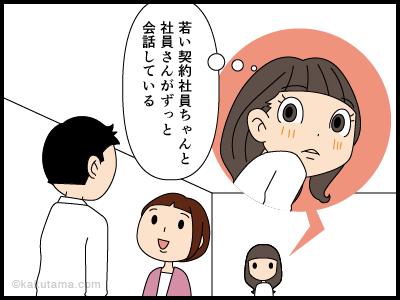 笑顔の条件反射にまつわる4コマ漫画1