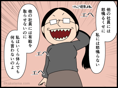 社長から目をかけられていると誤解している人の漫画3
