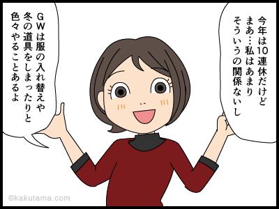 ゴールデンウィークの予定漫画3