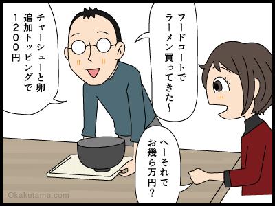 ラーメンは高いからスープを全部飲んでイイという漫画1