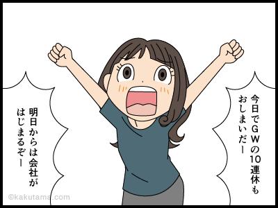 GWが終わり明日から会社の漫画1