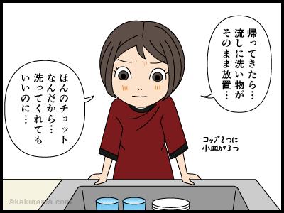 あえて家事をやらない主婦の漫画1