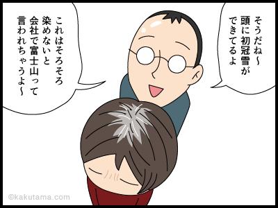 白髪染めをしたいけれど頭皮が痛いのでヘアカラーを躊躇する漫画2