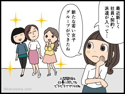 新しく派遣、社員、契約が入ってきた会社の漫画1
