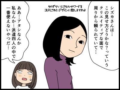 自分にスキルがないと嘆く派遣社員の漫画3