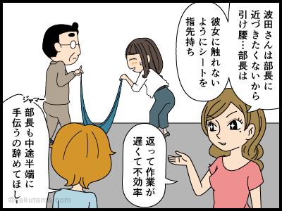 上司に触れたくない派遣社員の漫画4
