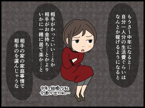 勝手にこの人と結婚はないな〜と思っている男女の漫画3