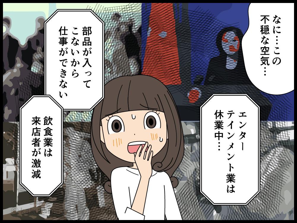 不景気になってきた先行きが不安な派遣社員の漫画3