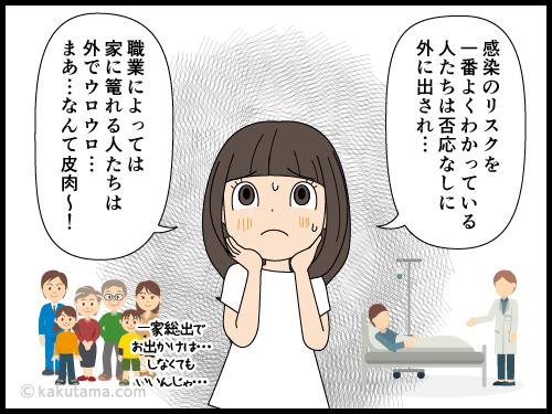 今はとにかく家に篭っておこうと思う派遣社員の漫画3