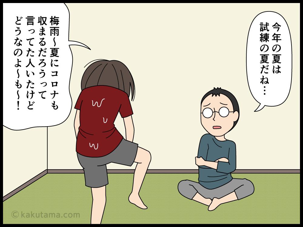 イベントごとがない2020年の夏にがっかりしている主婦の漫画4