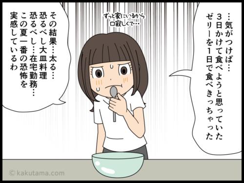テレワークで太る派遣社員の漫画4