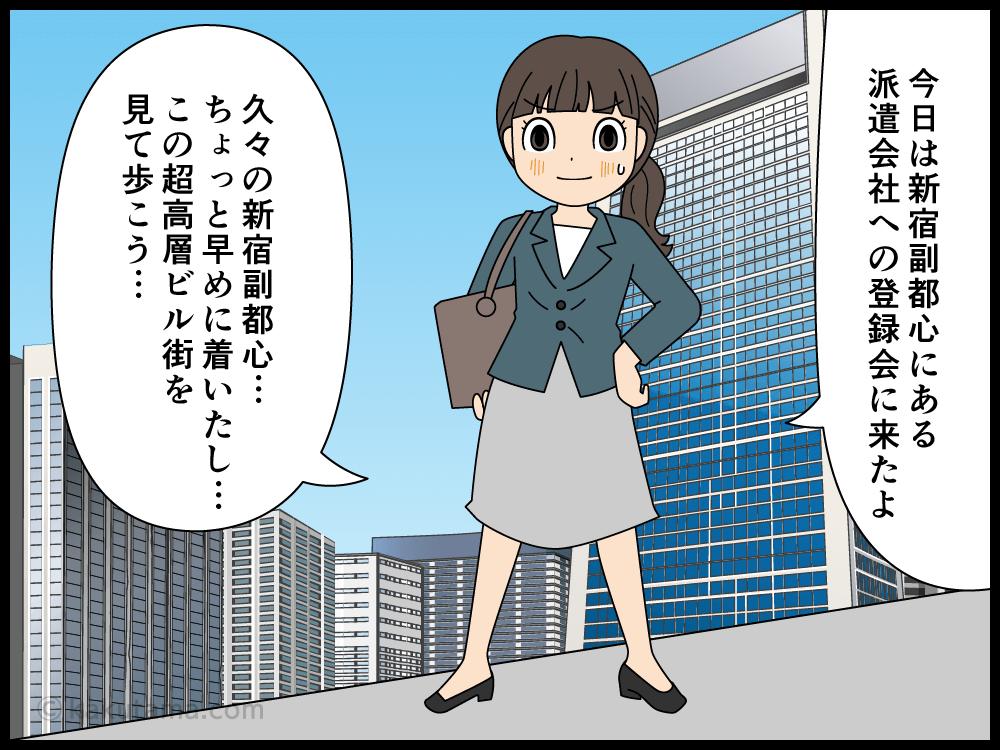派遣会社は新宿副都心に会社を構えているコトが多い漫画1