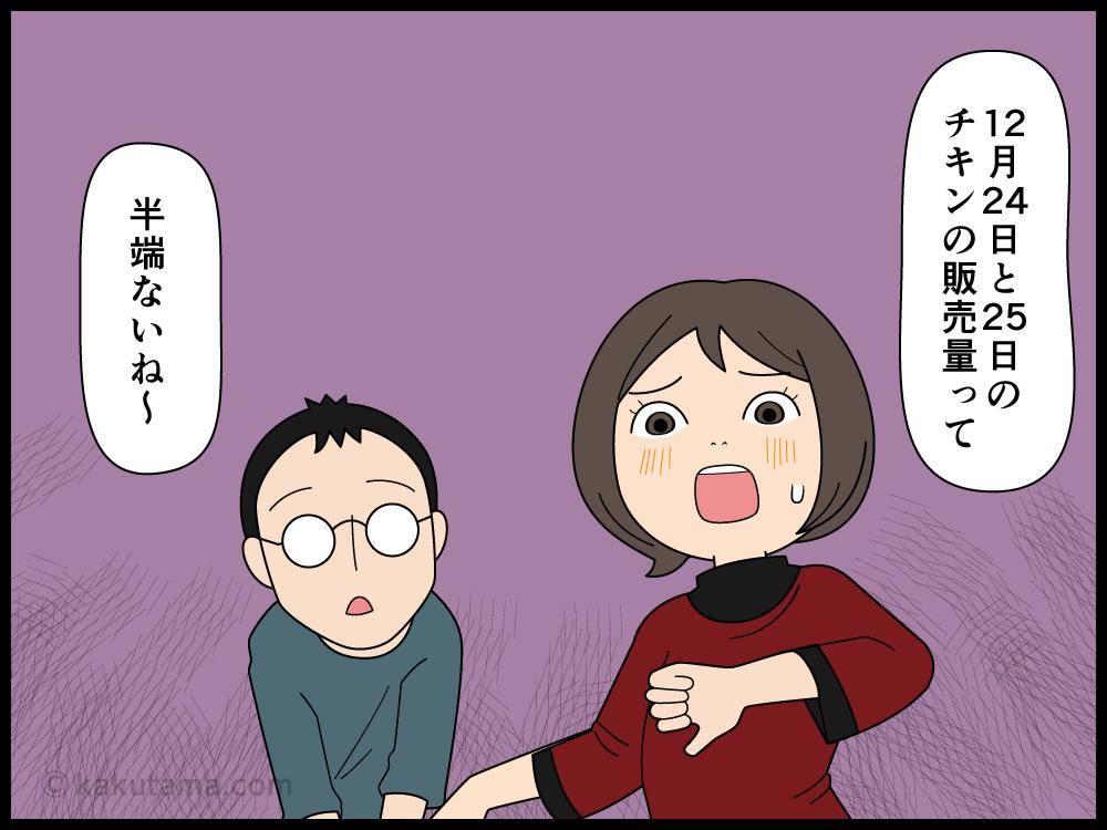 クリスマスで売れ残ったチキンの行方が心配な主婦の漫画1