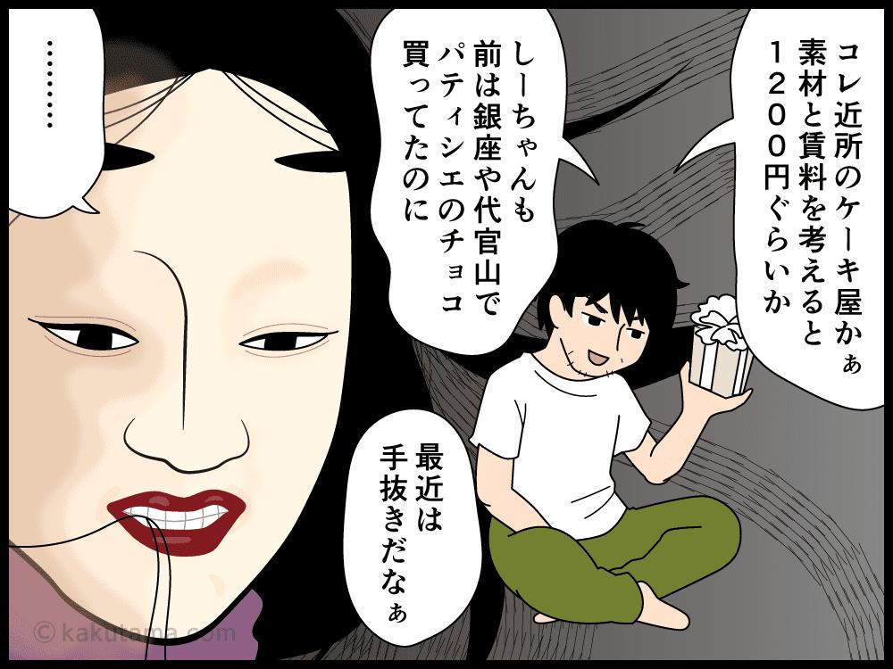 夫婦間でのバレンタインデーの漫画