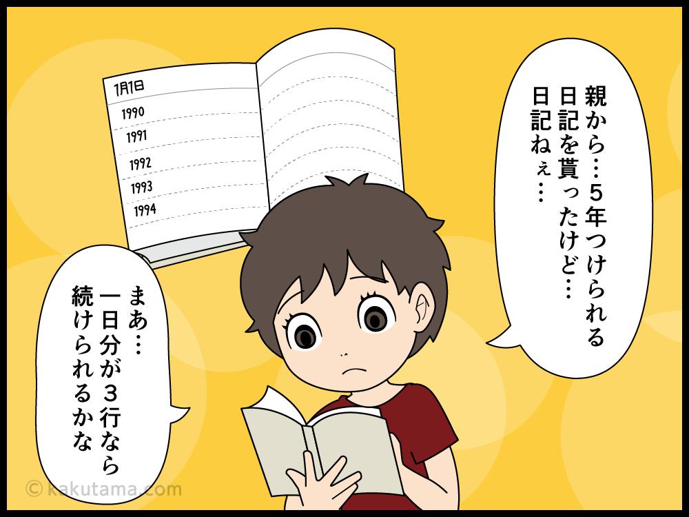 日記を親に読まれて以来、日記を書くのを止めた漫画