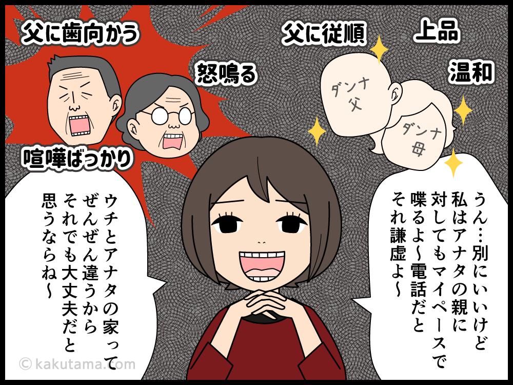 夫の親と交流をもてない嫁の漫画