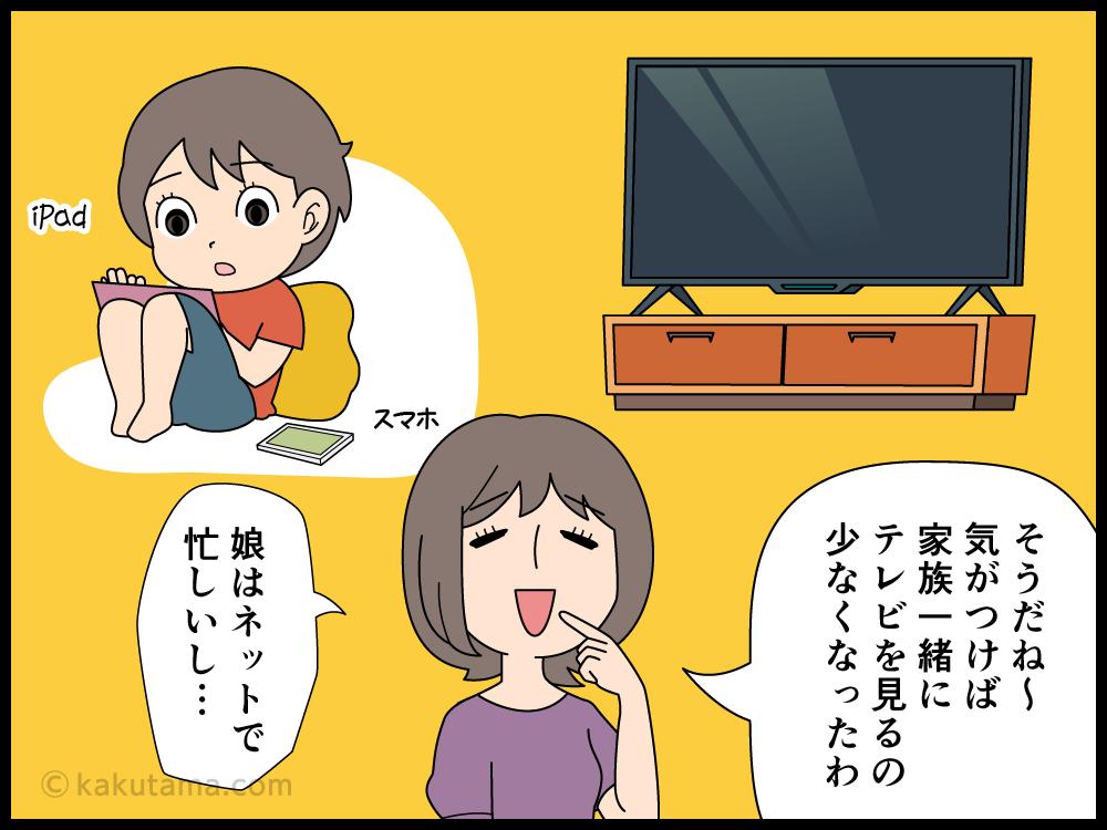 テレビが必要ない生活が返って寂しく思える主婦の漫画
